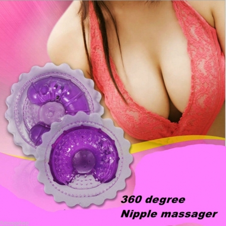 1pair Sweetiebabe 360degree Nipple Massagers Vibrator Breast Pads Cups Pasties Toy
