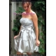 Sweeteibabe S05 Paillette strapless Cocktail Evening Dress Silver S/M/L/XL