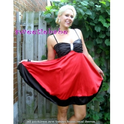 Sweeteibabe S07 Sexy Red Sequins Stretchy Cocktail Party Dress S/M/L/XL