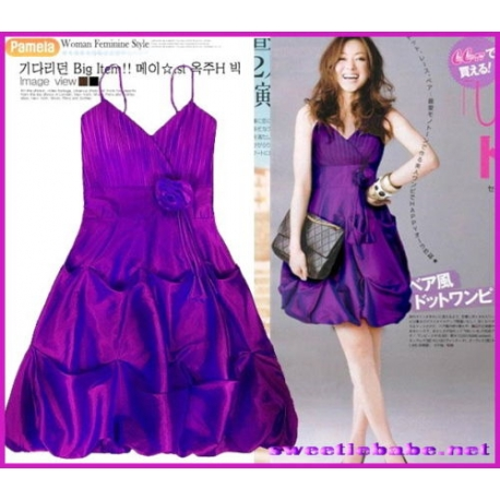 Sweeteibabe S09 Bubble Prom/Party/Cocktail/Evening Dress Purple S/M/L/XL