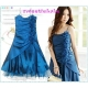 Sweeteibabe S08 Fashion Ruffle Flower Cocktail Party Dress Blue S/M/L/XL