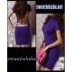 V20 Turtleneck Backless Clubwear Party Mini Dress Purple S/M