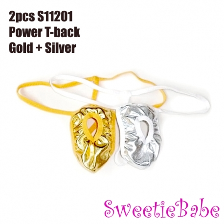 Sweetiebabe S11201 Men's Power T-back II Combo Gold +Silver